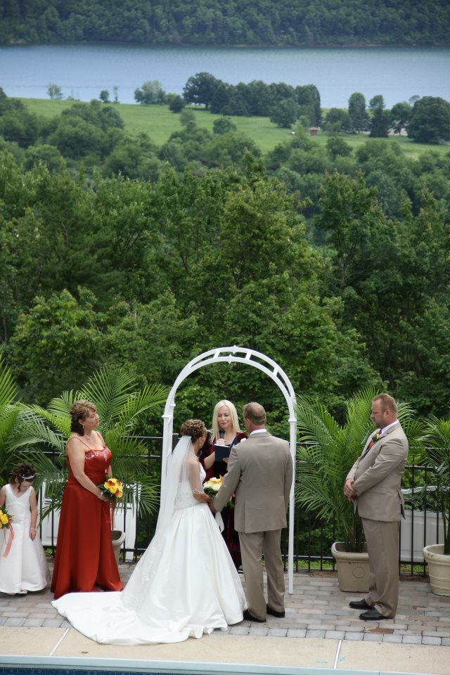 Andrea_Brock_Healing customized ceremony bride groom bridesmaid groomsmen outside