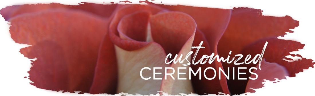 Andrea Brock Healing customized ceremonies red flowers