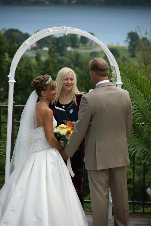Andrea_Brock_Healing customized ceremony bride groom Andrea outside
