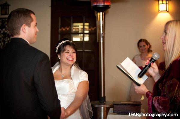 Andrea_Brock_Healing customized ceremony indoors smiling bride