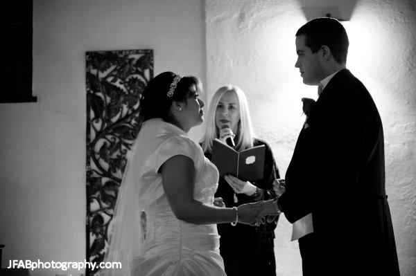 Andrea_Brock_Healing customized ceremony bride groom inside black and white